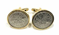 Premium 1958 Lucky sixpence cufflinks for a 62nd Birthday cufflinks
