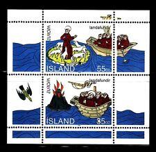 SELLOS TEMA EUROPA ISLANDIA 1994 DESCUBRIMIENTOS  2v. Hoja Bloque