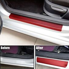 4Pcs Anti Scratch Sill Scuff Cover 3D Carbon Fiber Look Car Door Plate Sticker