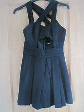 Women's ASOS petite  black pinafore style dress size 6