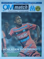 Programm UEFA CL 2011/12 Olympique Marseille - Borussia Dortmund