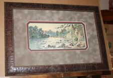 The Punchbowl Kentucky Artist Paul Sawyier Benson Creek sunset Frankfort Framed