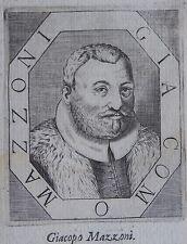 MAZZONI JACOPO,GIACOPO (1548-1598) philosophe italien, professeur à Pise, et ami