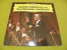 Beethoven - Symphonie No. 1 & No. 4  / Leonard Bernstein / RARE Germany DGG EX