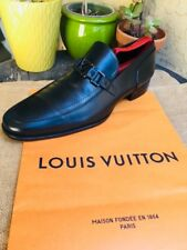 AUTH LOUIS VUITTON MENS SHOES LOAFERS HOCKENHIEM OXFORDS US 10.5 MADE IN ITALY