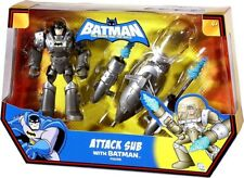 "THE BATMAN BRAVE AND BOLD ATTACK SUB WITH BATMAN 5"" FIGURE"