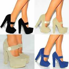 Faux Suede Court Slim Heel Shoes for Women