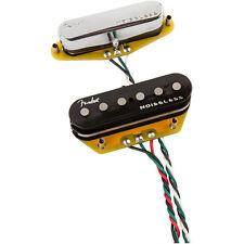 Fender Gen 4 Noiseless Telecaster Single Coil Guitar Pickup Set Black Chrome