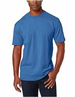 Dickie's Men's Short Sleeve Heavyweight Crew Neck Pocket, Royal Blue, Size Large
