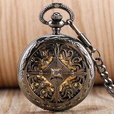 Exquisite Retro Men Women Automatic Mechanical Pocket Watch Pendant Chain Gift