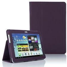 LEATHER Stand Case Cover per Samsung Galaxy Tab 2 10.1 pollici P5100 P5110-Viola