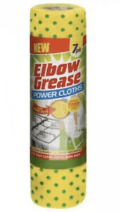 BRAND NEW * ELBOW GREASE POWER CLOTHS 7 PACK *