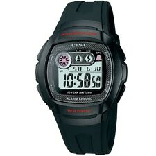 Casio W-210-1CV Black Youth Digital Watch with Casio Box