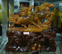 14 « 100% red xiu jade chinois cheval animal succès sculpture sculpture 2