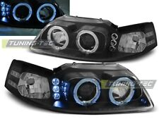 HEADLIGHTS LPFO33 FORD MUSTANG 1998 1999 2000 2001 2002 2003 2004 RINGS BLACK