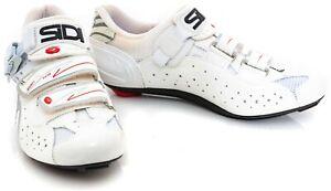 Sidi Women Genius 5 Fit Carbon Road Bike Shoes EU 40.5 US 8.25 White 3-Bolt Race