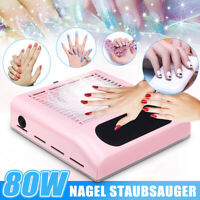 Nail Dust Suction Fan Art Salon Collector Manicure Machine 80W Vacuum Cleaner