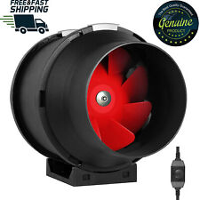 Inline Duct Fan 6 Inch 395 CFM Variable Speed Controller Exhaust Intake Airflow
