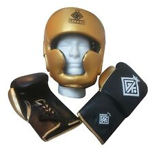Boxing sparring set headguard and gloves inspired by grant cleto reyes winning