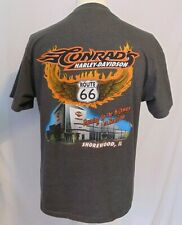 Harley-Davidson Mens Size L Conrads Shorewood Il Highway Rt. 66 Grey