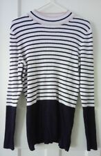 Principles Ben de Lisi navy and white stripey jumper size 16