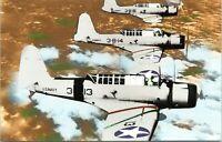 Vought SB2U-1 Vindicator WW2 Military Airplane Chrome Postcard 109