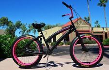 Ladies Soul Beach Cruiser UK Fat Tyre Black Stomper American Big Bicycle Bike