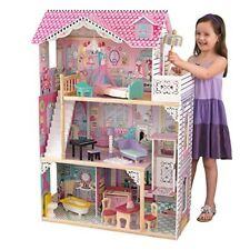 Girls Dollhouse Mansion Play Barbie Doll Wooden Furniture Kids Toy Kidcraft New