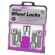 McGard Chrome 17mm Hex Bolt Style Radius Seat Locking Lug Bolts Wheel Locks Audi