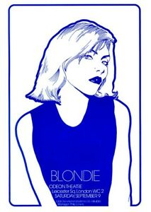 BLONDIE Giant 4 Piece Quad Poster Glossy / Matte Print Large Size 4xA3 to A1