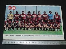 CLIPPING POSTER FOOTBALL 1976-1977 OGC NICE OGCN AIGLONS NISSA RAY