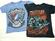 VTG Lot of (2) Grateful Dead & Rush HOF shirts (S) Hall of Fame Ohio Music Band