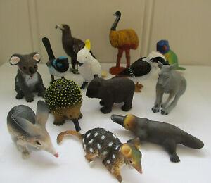 AUSTRALIAN BIRDS & ANIMALS WREN KOALA WOMBAT COCKATOO LORIKEET BILBY KANGAROO