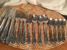 Oneida Arbor Rose or True Rose  Stainless 15 Pieces Knives Forks Spoons