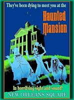 Anaheim Disneyland the Haunted Mansion California Vintage Travel Poster Print