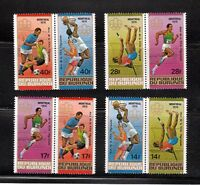 Montreal Olympic Games MNH Complete Set of 4 pairs, Sc 495-498 Burundi CV$14.25