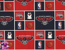 NBA Atlanta Hawks 100% Cotton Fabric