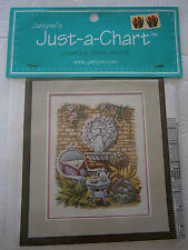 Just-A-Chart The Tea Garden Scene Wicker Chair Counted Cross Stitch Pattern