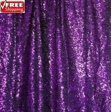 Purple Sequin Fabric, Glitters Sequins Purple Full Sequin on Mesh Fabric -SQP