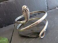 Aufreizender 925 Silber Armreif Oberarm Schlange Tier Reptil Schwer Sterling Top