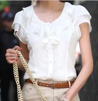 Summer Women Casual Sleeveless Tunic Chiffon Tops Blouse Shirt T-shirt