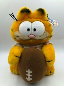 R Dakin Football Is My Life Garfield 1981 Orange Cat Plush Stuffed Toy Animal