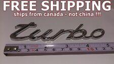 *** FREE SHIPPING *** TURBO CHROME PORSCHE Cayenne Decal Sticker Emblem Badge