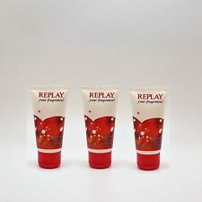 3x Replay your fragrance! Duschgel 50 ml