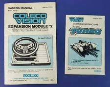 VTG 1982 ColecoVision  Model 2413 Expansion Module #2 Manual Turbo Instructions