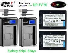 AC+2XNP-FV70 for Sony NP-FV70 NP-FV100 NP-FV30 NP-FV50 HDR CX HC PJ SR SX AUship