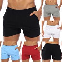 Fashion Breathable Men Shorts Cotton Gym Sports Running Sleep Casual Short Pants