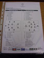 03/10/2012 Farbe Teamsheet: Manchester City V Borussia Dortmund [Champions Leag
