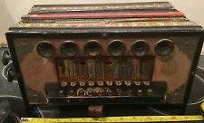 Antique Accordion 10 Wood Button Reeds [1890-1910 No Doubt], Needs Good Home