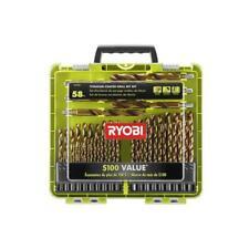 Ryobi Titanium Coated Drill Bit Set (58-Piece)